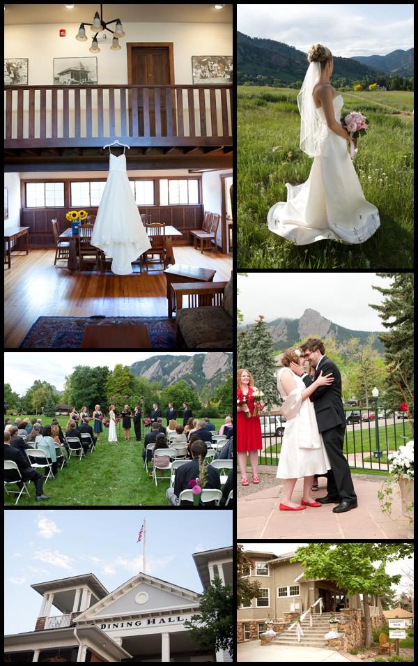 Chautauqua wedding photo