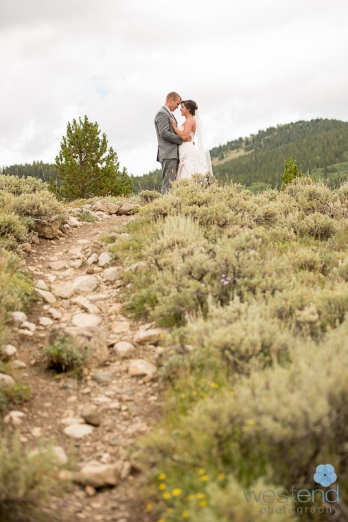 bride and groom,Rocky Mountains