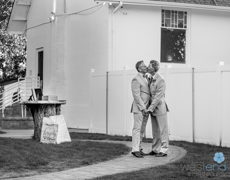 black and white wedding,gay,couple