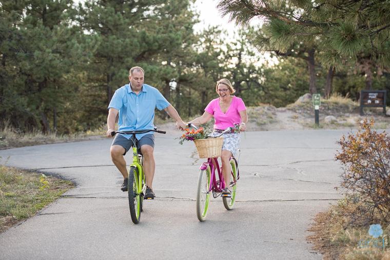 couple, bikes,Boulder,Colorado,cruiser,pink